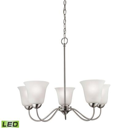 1205Ch/20-Led Conway 5 Light Led Chandelier In Brushed