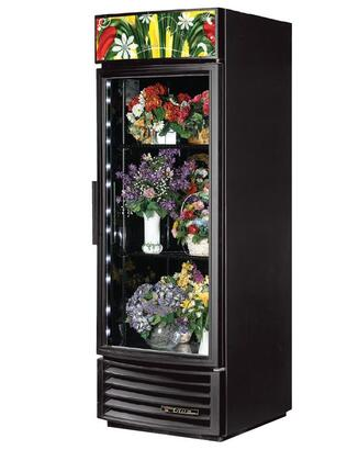 GDM-23FC-RF-LD 23 Cu. Ft. Radius Front Refrigerator Floral Case with LED Lighting  and Thermal Insulated Glass Swing-Doors in