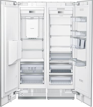 48 inch  Energy Star Rated Side-by-Side Refrigerator with T24IR900SP 24 inch  13 cu ft. Capacity Refrigerator Column and T24ID900LP 24 inch  11.2 cu. ft. Capacity Freezer