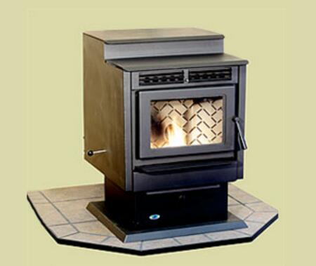HRFS Hudson River Stove Works - Free Standing Davenport Pellet Stove Body w/ Black Door (Must add legs or pedestal to