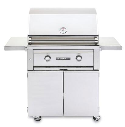 Sedona 2-Piece Stainless Steel Outdoor Grill Set with L500PSNG Natural Gas Grill and L500CART 30