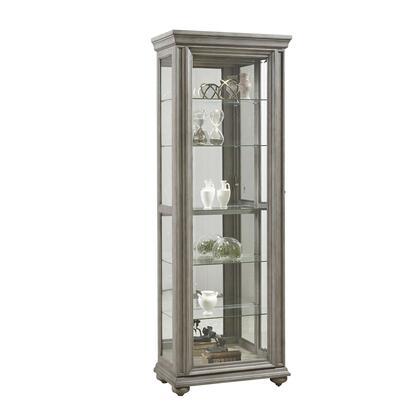 P021598 Grey Sliding Door Display Cabinet