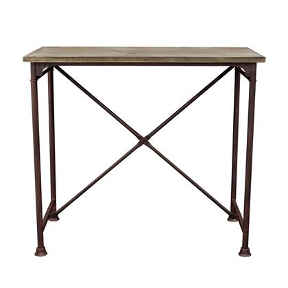 """Dixon_DIXONBTBL_47""""_Vintage_Rectangular_Bar_Table_with_Solid_Pine_Top__Rust_Black_Hand_Painted_Distressed_Base_and"""