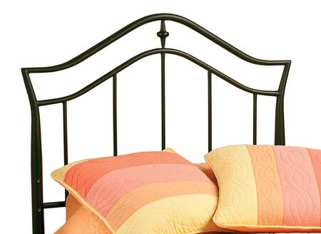Imperial 1546HTWR Twin Sized Bed with Headboard  Frame  Arched Top Rail and Tubular Steel Construction in Twinkle Black
