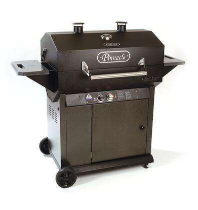 BH726AG10 58 inch  Freestanding Pinnacle Grill with 726 sq. in. Grilling Surface  25000 BTU Heat Output  Thermometer  and 2 Stainless Steel Cooking Grids  in