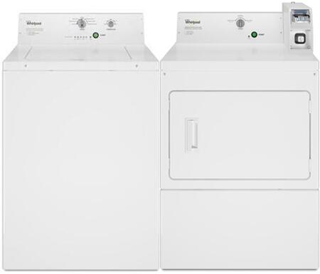 White Top Load Commercial Non-Coin Laundry Pair with CAE2795FQ 27