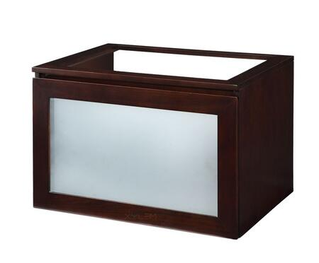 V-BLOX-DRG30DW Blox 30 in. W x 21-1/2 in. D x 20 in. H Vanity Cabinet Only with Glass Front Drawer in Dark