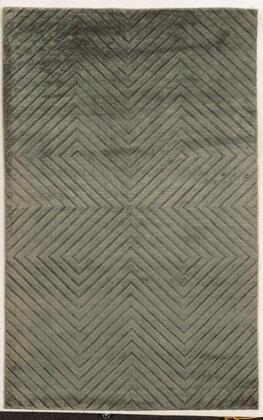 VILVT865200330810 Villa Travina VT8652-8' x 10' Hand-Loomed 100% Viscose Rug in Gray  Rectangle