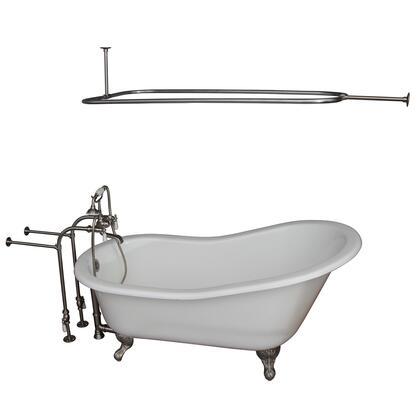 TKCTSN67-BN3 Tub Kit 67 CI Slipper  Shower Rd  Filler  Supplies  Drain-Brush