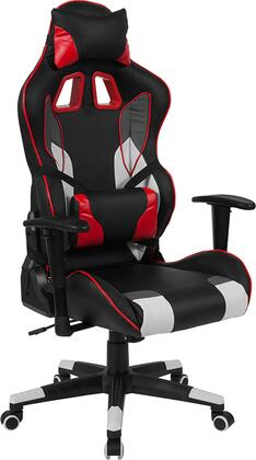 CH-CX1050H-GG Cumberland Comfort Series High Back Black  White  Gray And Red Executive Reclining Racing/Gaming Swivel Chair With Lumbar Support 26