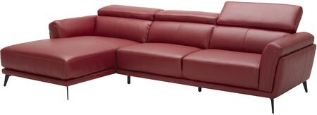 EK-LK385 Collection EK-LK385R-RED 2-Piece Sectional Sofa with Left Arm Facing Chaise and Right Arm Facing Sofa in