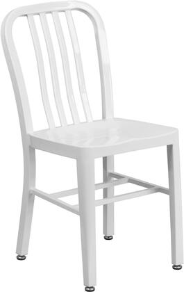 Flash Furniture Ch-61200-18-wh-gg 18 Metal Chair With Adjustable Floor Glides  Vertical Slat Back And Stretchers In