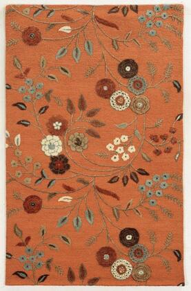 Edheh863700750810 Eden Harbor Eh8637-8 X 10 Hand-tufted Premium Blended Wool With Viscose Accents Rug In Rust    Rectangle