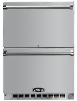 """Professional MPRO6RDE-BS 6.1 Cu. Ft. 24"""" ENERGY STAR Rated Refrigerated Drawers with Self-Closing Drawer Glides  Audible Alarm  Interior Light  and Drawer Lock"""