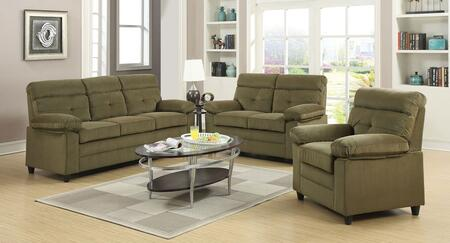 Alicia 51360SLC 3 PC Living Room Set with Sofa + Loveseat + Chair in Light and Dark Brown