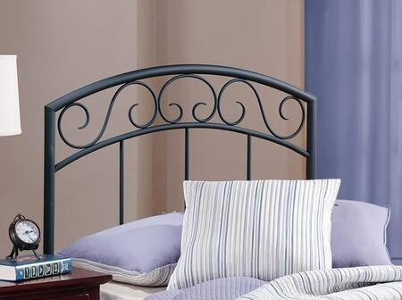 Wendell Collection 298HTWR Twin Size Headboard with Rails  Decorative Metal Scrollwork and Open-Frame Arched Panel Design in Textured