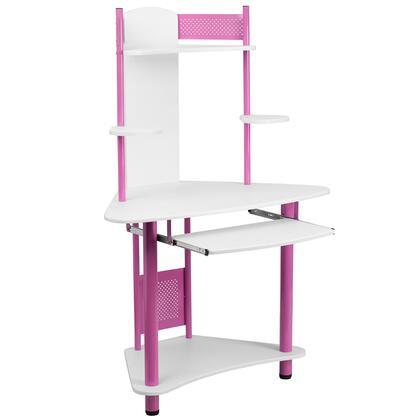 NAN-JN-2705-PK-GG Pink Corner Computer Desk with
