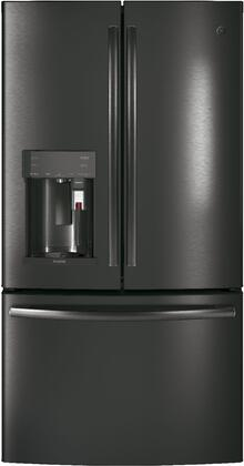 GE Profile PYE22PBLTS 36 Counter Depth French Door Refrigerator with 27.8 cu. ft. Total Capacity in Black Stainless Steel