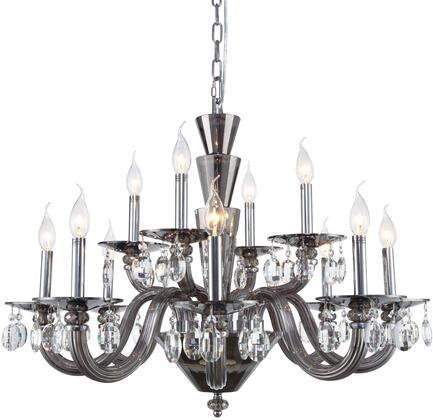 7870D32SS/RC 7870 Augusta Collection Chandelier D:32In H:23In Lt:12 Silver Shade Finish (Royal Cut