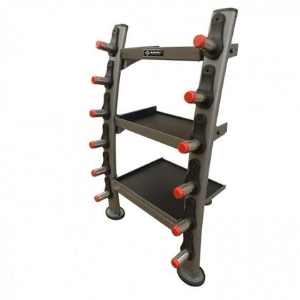 E-3577 Accessory Rack with 3 Shelves and 6 Stainless Steel Bar Holders in