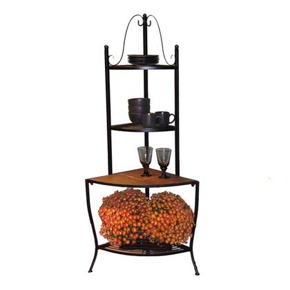 601617 Stone Collection Corner Baker's Rack with Slate