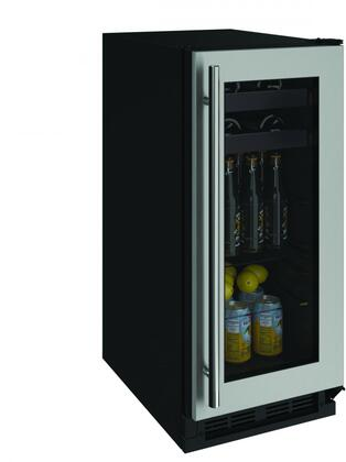 U-1215BEVS-00A 15 inch  1000 Series Beverage Center with 3 cu. ft. Capacity  Passive Cooling System  2 Glass Shelves  2 Wine Racks  and Reversible Door  in