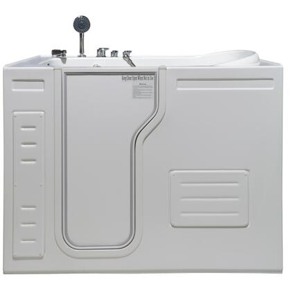 Aurora HY1323L  51 inch W x 29.5 inch D x 42 inch H  Inward Opening Accessible Walk-In Soaking Tub with Left Hand
