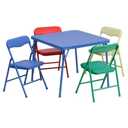JB-9-KID-GG Kids Colorful 5 Piece Folding Table and Chair