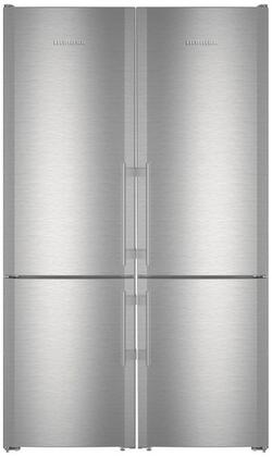 48 inch  Side-by-Side Refrigerator with 24 inch  CS1321R and 24 inch  CS1321 Bottom Freezer Refrigerators  990036800 Top Vent and 990155500 Side-by-Side Installation