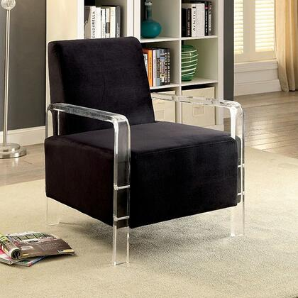 Eloise CM-AC6187BK Accent Chair with Contemporary Style