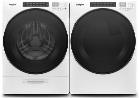 White Front Load Laundry Pair with WFW6620HW 27