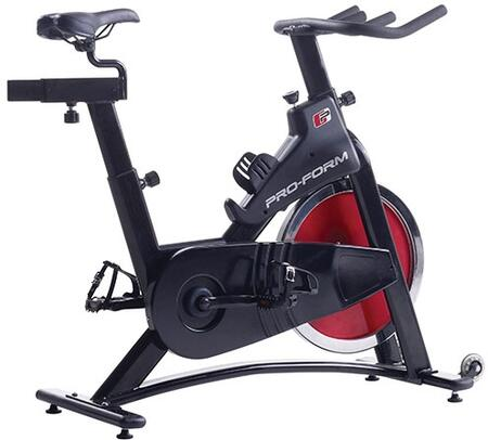 PFEX02914 350 SPX Upright Indoor Cycle Exercise Bike with Adjustable Height  Strap Pedals  Non-Slip Handlebars  and Water Bottle