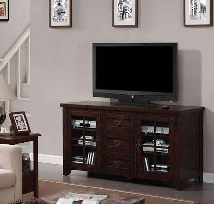 TC60-1066-O128 Dakota 60 inch  TV Stand with Windowpane Doors  Adjustable Hinges  Adjustable Shelves and Designed to Hold Up to a 65 inch  Television in Caramel