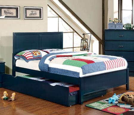 Prismo Collection CM7941BL-F-BED+TR Full Size Platform Bed with Trundle  Low Profile Footboard  Tapered Legs and Wood Construction in