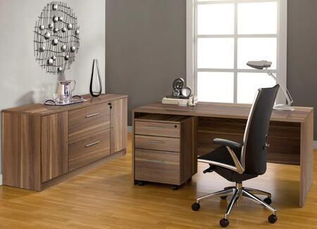 1C100008MWL Walnut Executive Office Desk with
