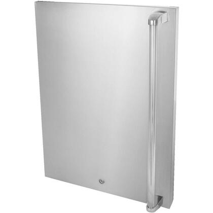 BLZ-SSFP-4.5LH Stainless Front Door Upgrade for 4.5 cu. ft. Refrigerator: Left