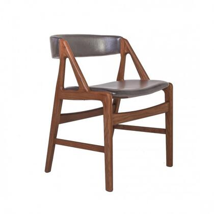 Soen FEC3139BLK51 Chair with Tapered Legs  Solid