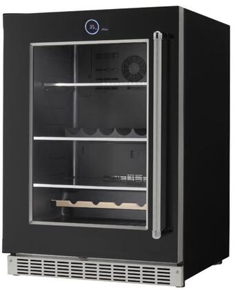 SRVBC050L 24 inch  Silhouette Series Beverage Center with 5 cu. ft. Capacity  105 Can Capacity  5 Wine Bottle Capacity  and Parametric Lighting  in