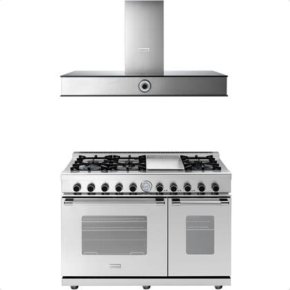 2-Piece Stainless Steel Kitchen Package with RN482GCSS 48