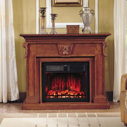 "WF6491-FP Royal Teak Fireplace with 28"" Electrical Insert"