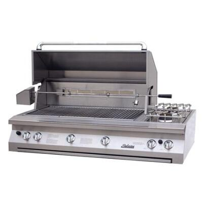 SOL-AGBQ-56-NG Deluxe 56 inch  Built In Natural Gas Grill with Rotisserie