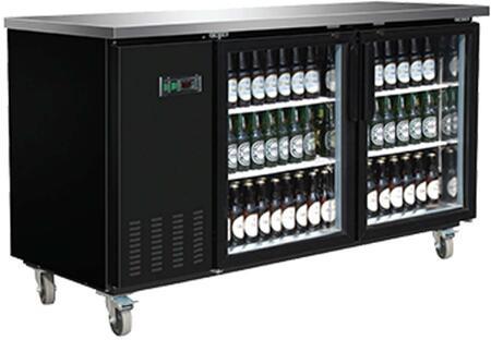MXBB60G Freezer with 13.8 cu. ft.  Recessed Sliding Door Handle  Aluminum Interior  White Exterior   Light  Temperature Display  Front Facing Drainage  Front
