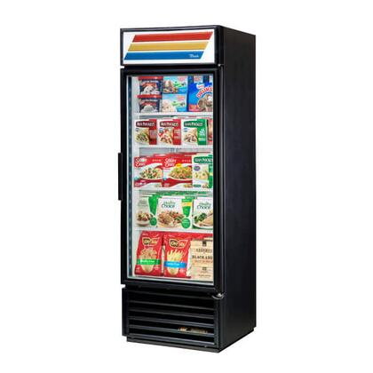 GDM-19T-F-LD Refrigerator Merchandiser with 19 Cu. Ft. Capacity  LED Lighting  and Thermal Insulated Glass Swing-Doors in