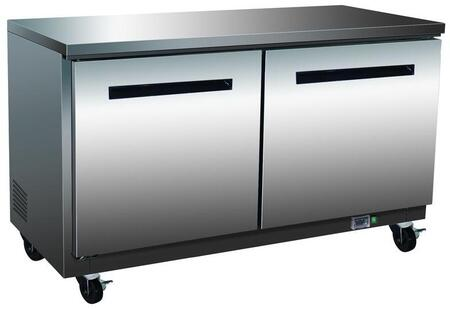MXCR48U  Undercounter Refrigerator with 12 cu. ft. Capacity  4 Casters  Self Contained  Automatic Defrost  Forced Air Refrigeration and Efficient Cooling