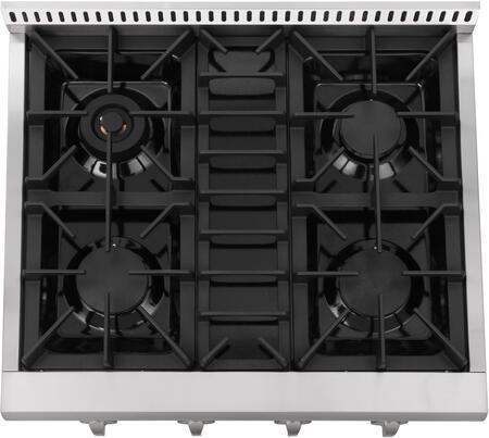 Thor Kitchen HRT3003U 30 Professional Gas Range Top with 4 Sealed Burners