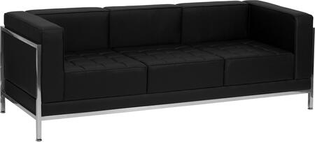 ZB-IMAG-SOFA-GG HERCULES Imagination Series Contemporary Black Leather Sofa with Encasing