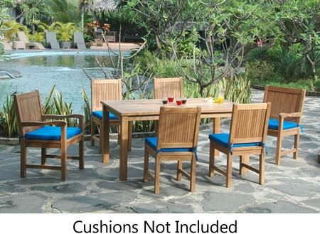 SET-204 7-Piece Dining Table Set with 63