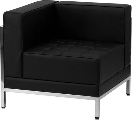 ZB-IMAG-LEFT-CORNER-GG HERCULES Imagination Series Contemporary Black Leather Left Corner Chair with Encasing