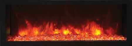 Remii 102745-DE Deep Indoor Electric Fireplace Black Steel Surround, Built-In, 45