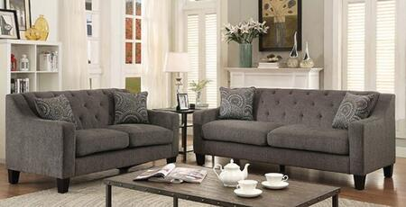Marlene Collection CM6096-SL 2-Piece Living Room Set with Stationary Sofa and Loveseat in